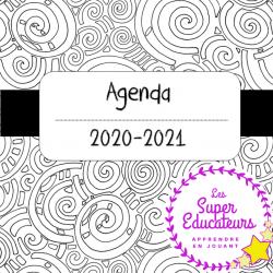 Agenda 2020-2021 noir et blanc