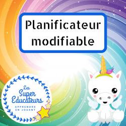 Planificateur modifiable