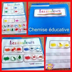 Chemise éducative Les couleurs