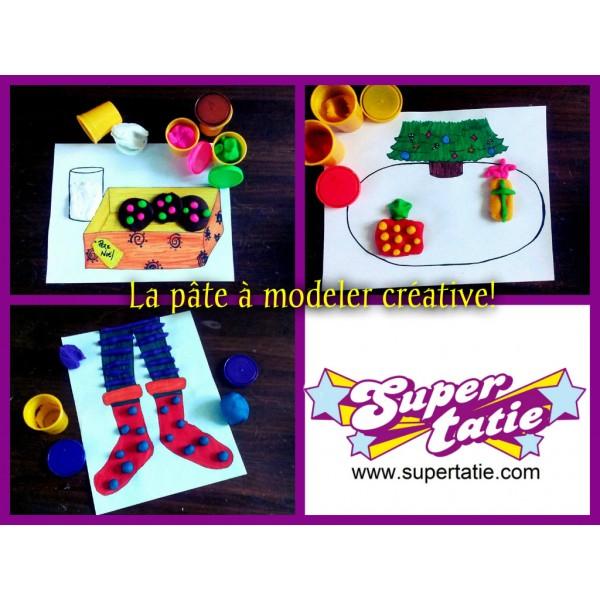 La pâte à modeler créative de Noël