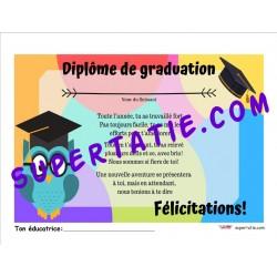 Diplôme de graduation préscolaire