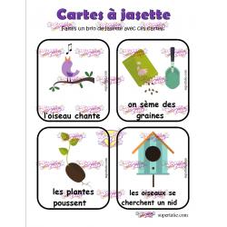 cartes à jasette printemps