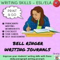 Bell Ringer Journals with Task Cards ESL/ELA
