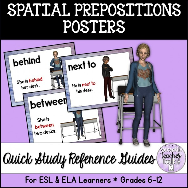 Spatial Prepositions Posters