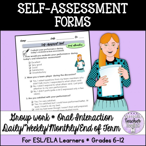 Self-evaluation Forms for ESL/ELA