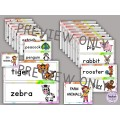 Farm and Zoo Animals Word Wall and Activities