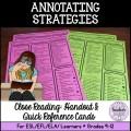 Close Reading: Annotating Strategies