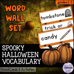 Spooky Halloween Word Wall and Activities