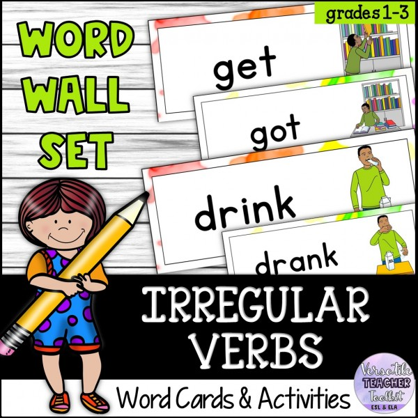Irregular Verbs Word Wall and Activities