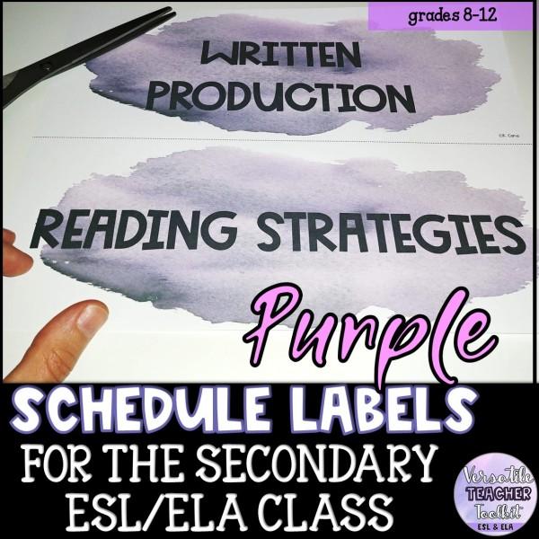Purple Watercolour Schedule & Routine Labels