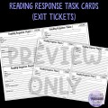 Response Process Task Cards (Reading Skills)