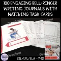 100 Bell-ringer Writing Prompts and Task Cards