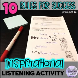 Ten Rules for Success Listening Activity
