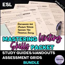 Mastering Writing Skills Packet (Study Guide)
