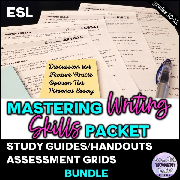 Mastering Writing Skills Packet (Study Guide)