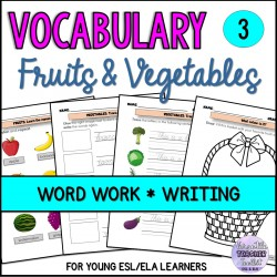 Fruits and Vegetables Vocabulary Pack 3
