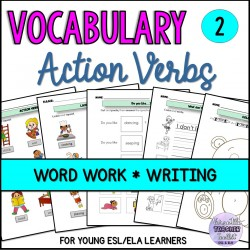 Verbs, Colours, Likes/Dislikes Vocabulary Pack 2