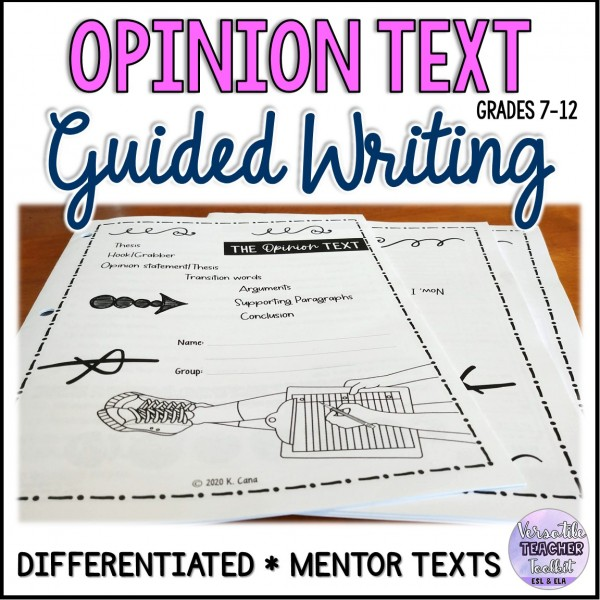 Opinion Piece Guided Writing/Differentiated
