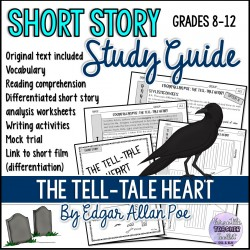 THE TELL-TALE HEART by E.A. Poe Short Story Unit