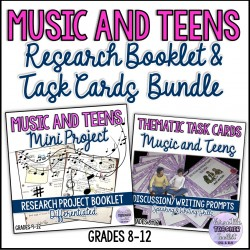 Music and Teens Research Booklet & Task Cards