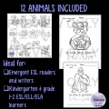 Cartoon Animals Coloring, Tracing, Writing Booklet