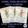 Occupations Colouring, Tracing, Writing Booklet