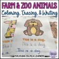 Coloring, Tracing, and Writing Activities Bundle