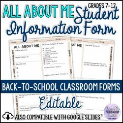 Student Information/Survey Form (Portrait)