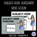 Subject-Verb Agreement Mini Lesson