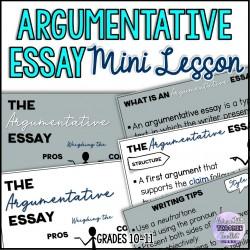 Argumentative Essay Mini Lesson