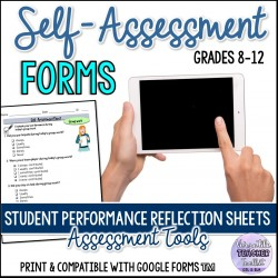 Student Performance Reflection Sheets