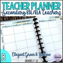 The High School ESL/ELA Teacher's Planner (B)