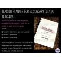 The High School ESL/ELA Teacher's Planner (C)