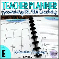 The High School ESL/ELA Teacher's Planner (E)