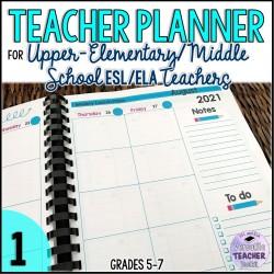 Upper-Elementary School Teacher Planner 1