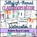 Watercolor Jellyfish-Themed Classroom Décor