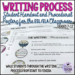 The Writing Process Handout and Procedural Posters