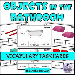 Objects in the Bathroom Task Cards
