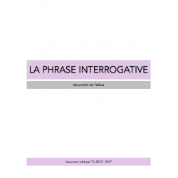 La phrase interrogative - Document de travail