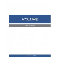 VOLUME - CAHIER D'EXERCICES