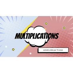 LES MULTIPLICATIONS - GOOGLE SLIDES