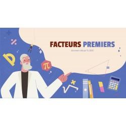 FACTEURS PREMIERS - GOOGLE SLIDES