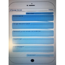 Lettre d'excuse SMS