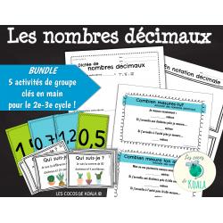 BUNDLE activités de groupe nombres décimaux