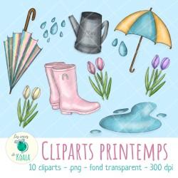Ensemble de cliparts - printemps