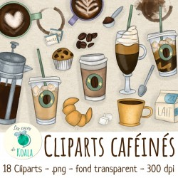 Ensemble de Cliparts - café