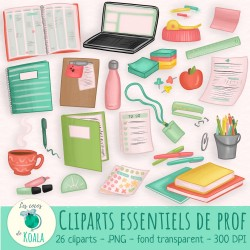 Ensemble de cliparts - indispensables de prof