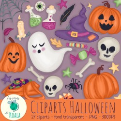 Ensemble de cliparts - Halloween