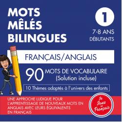Mots Mêlés Bilingues Français-Anglais (Niveau 1)