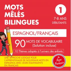 Mots Mêlés Bilingues Espagnol-Français (Niveau 1)